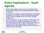 policy implications youth agenda