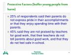 protective factors buffer young people from harm