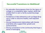 successful transitions to adulthood