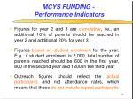 mcys funding performance indicators20