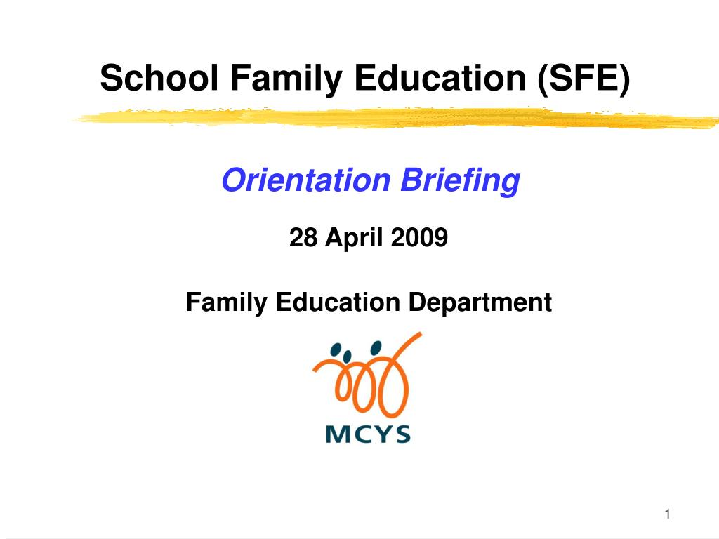 school family education sfe l.