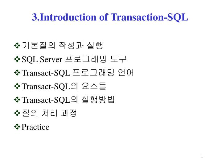 3 introduction of transaction sql n.