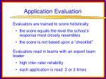 application evaluation21