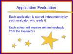 application evaluation22