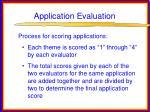 application evaluation23