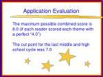 application evaluation24