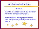 application instructions76
