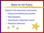 basis for the rubric