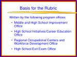 basis for the rubric33