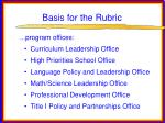 basis for the rubric34