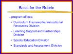 basis for the rubric35