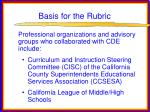 basis for the rubric36