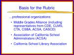 basis for the rubric37