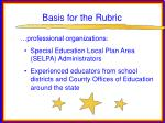 basis for the rubric38