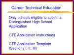 career technical education78