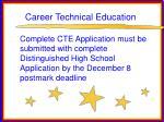 career technical education81