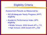 eligibility criteria13