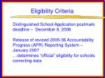 eligibility criteria14
