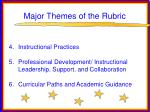 major themes of the rubric43