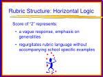rubric structure horizontal logic51