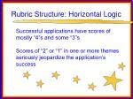 rubric structure horizontal logic53