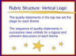 rubric structure vertical logic
