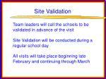 site validation29