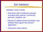 site validation30