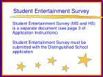 student entertainment survey