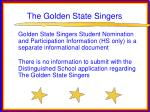 the golden state singers