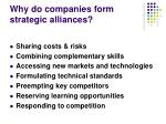 why do companies form strategic alliances