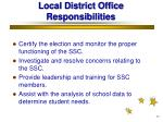 local district office responsibilities