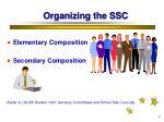 organizing the ssc