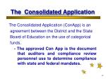 the consolidated application