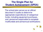 the single plan for student achievement spsa26
