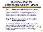 the single plan for student achievement spsa30