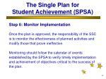 the single plan for student achievement spsa32