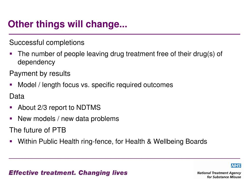 Other things will change...