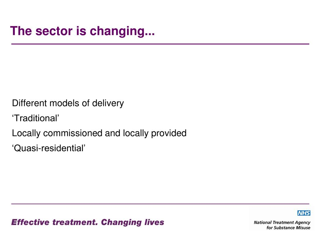 The sector is changing...