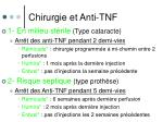 chirurgie et anti tnf