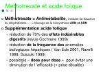 methotrexate et acide folique