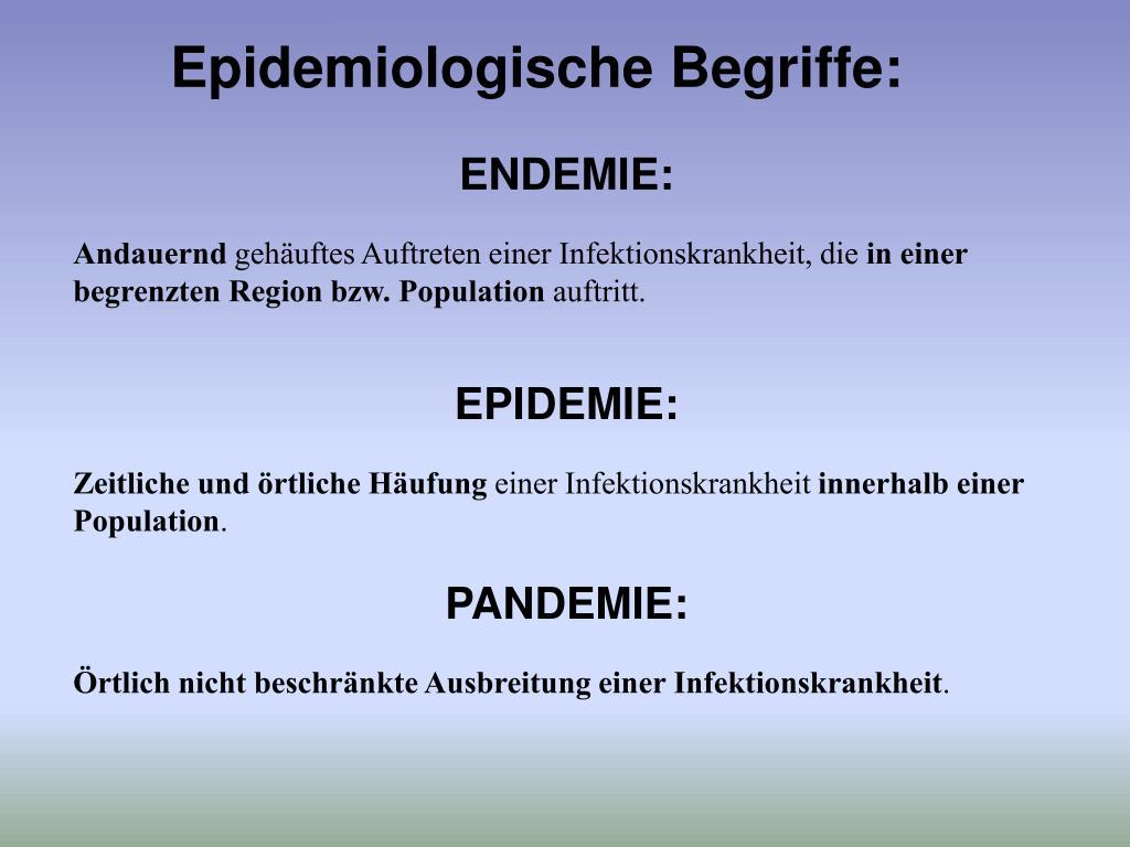 Epidemie Pandemie Endemie Definition