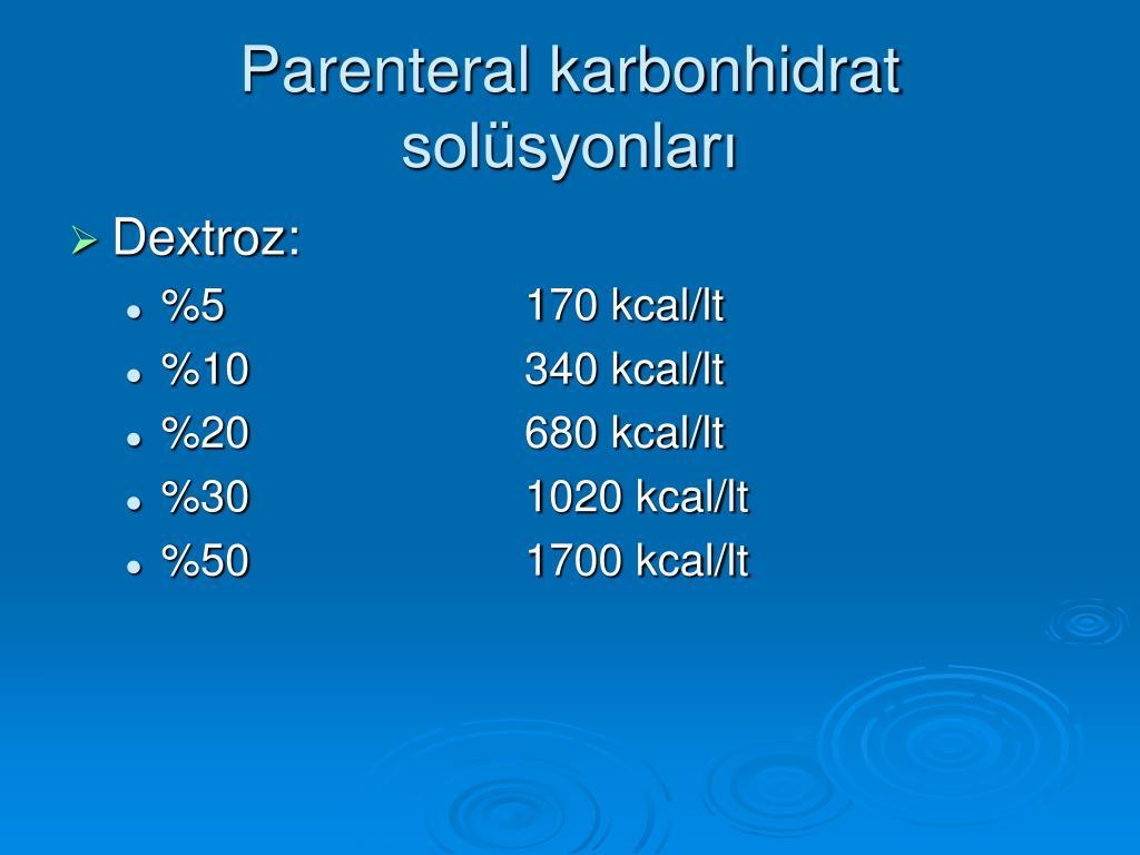 Parenteral karbonhidrat solüsyonları