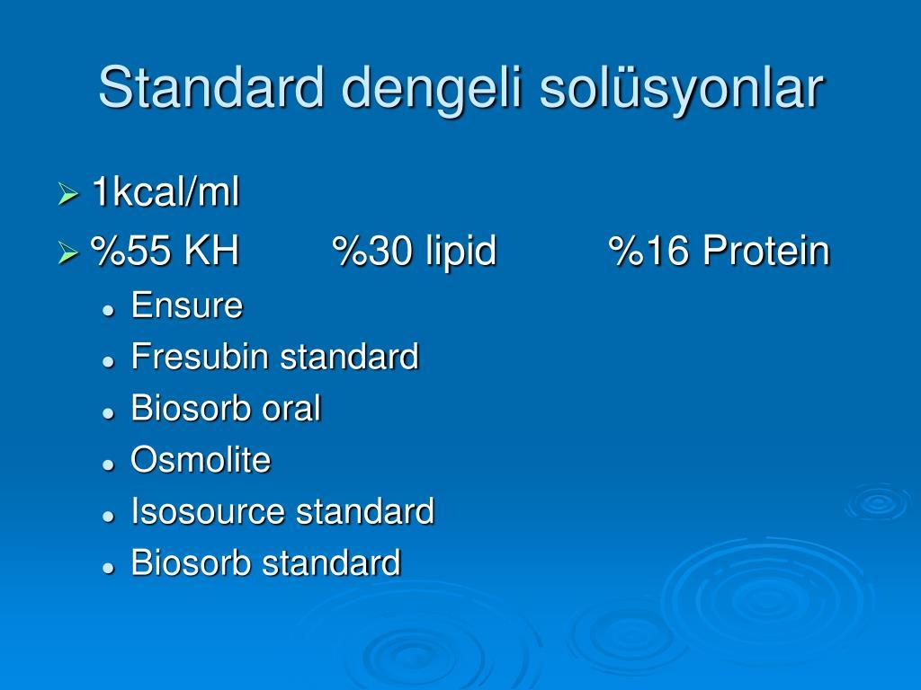 Standard dengeli solüsyonlar