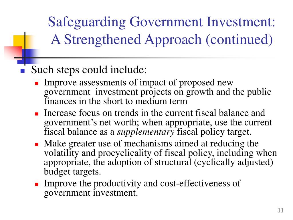Safeguarding Government Investment: