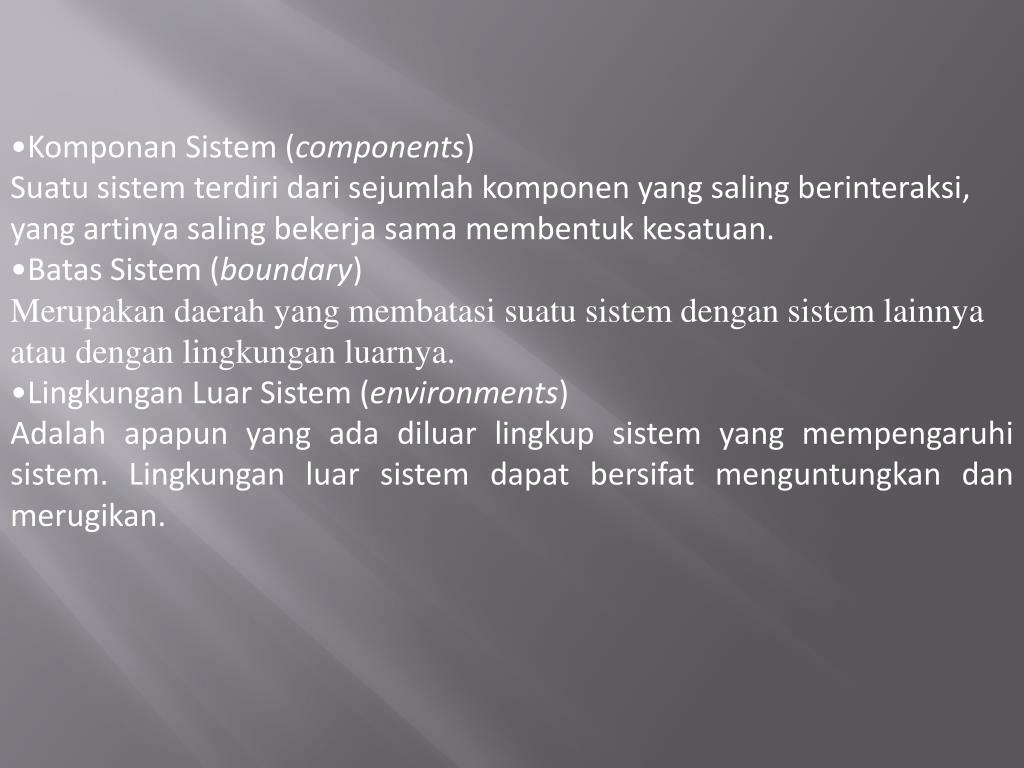 Komponan Sistem (