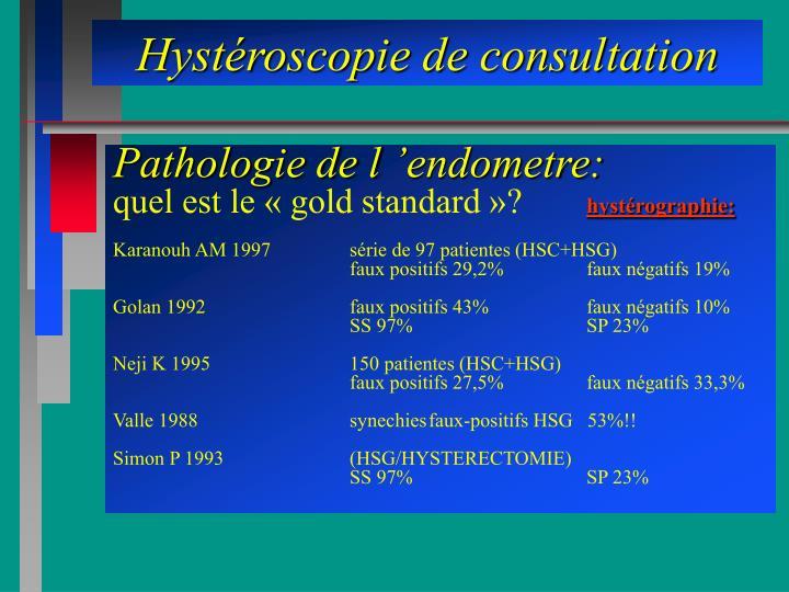 Hystéroscopie de consultation