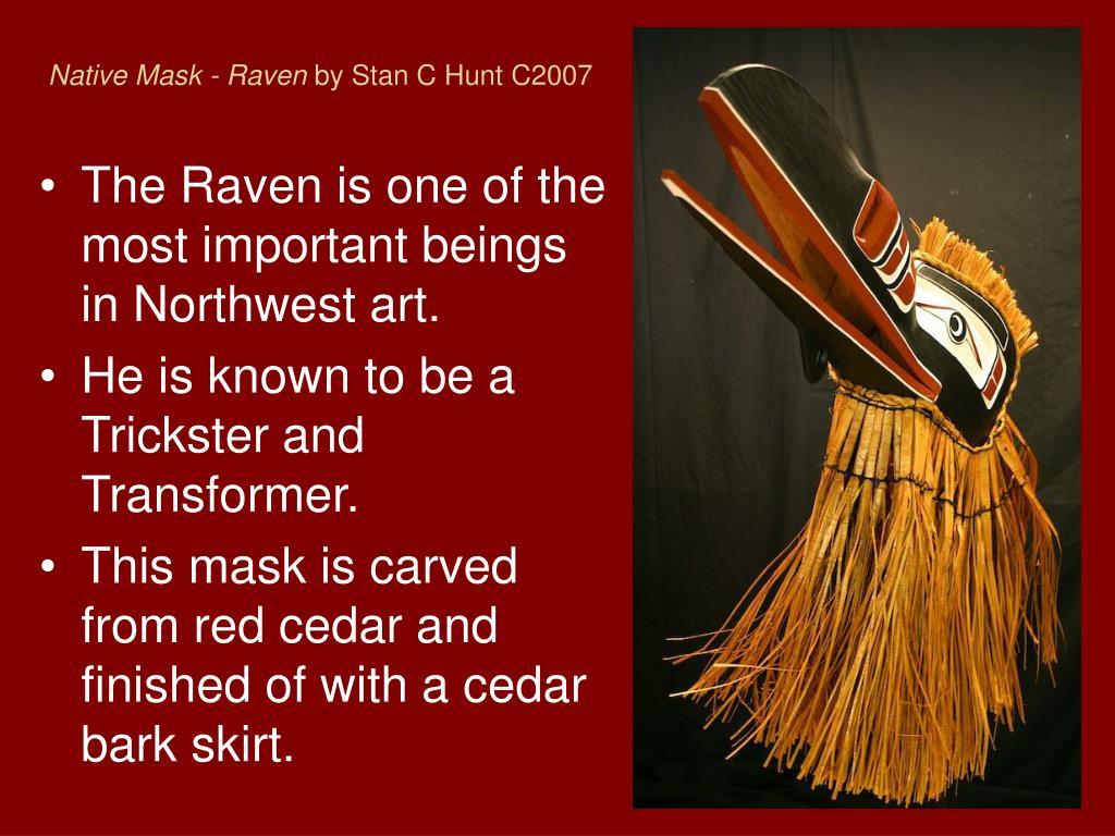 Native Mask - Raven