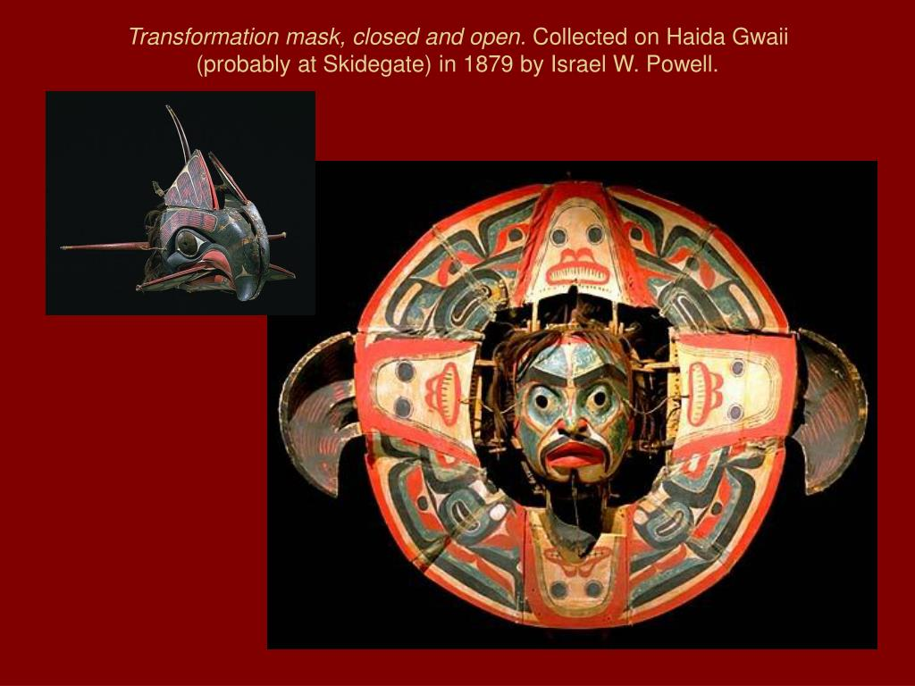 Transformation mask, closed and open.