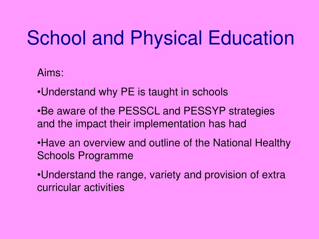school and physical education l.